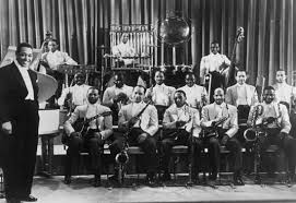 The Duke and his band, 1937